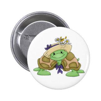 Turtle 2 Inch Round Button