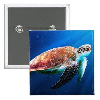 Turtle 2 Inch Square Button