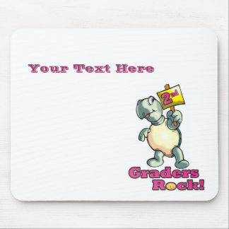 """Turtle """"2nd Graders Rock"""" Design Mouse Pad"""