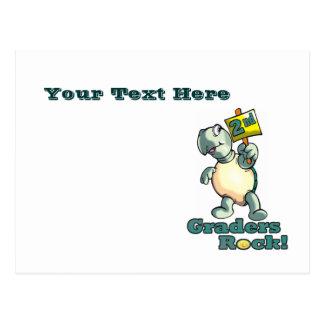 """Turtle """"2nd Graders Rock"""" Design Postcard"""