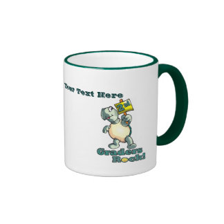 """Turtle """"2nd Graders Rock"""" Design Ringer Mug"""