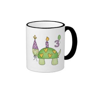 Turtle 3rd Birthday Gifts Ringer Coffee Mug