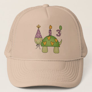 Turtle 3rd Birthday Gifts Trucker Hat