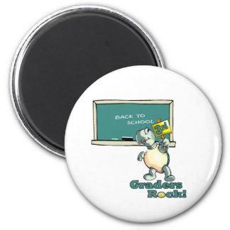 "Turtle ""3rd Graders Rock""  Design 2 Inch Round Magnet"