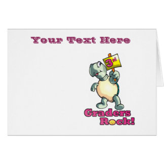 "Turtle ""3rd Graders Rock""  Design Card"