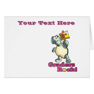 "Turtle ""3rd Graders Rock""  Design Card"