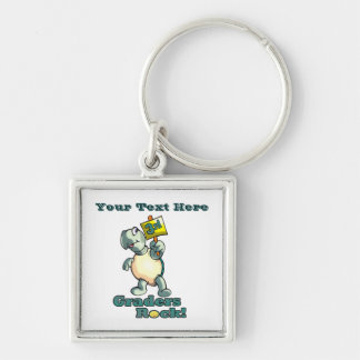 "Turtle ""3rd Graders Rock""  Design Key Chain"