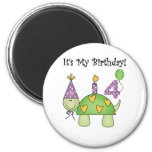 Turtle 4th Birthday Tshirts and Gifts Fridge Magnet