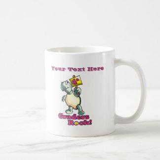 "Turtle ""4th Graders Rock"" Design Coffee Mug"