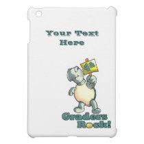 """Turtle """"4th Graders Rock"""" Design iPad Mini Case"""