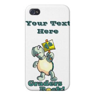 "Turtle ""4th Graders Rock"" Design iPhone 4 Case"