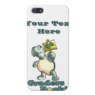 "Turtle ""4th Graders Rock"" Design iPhone SE/5/5s Cover"