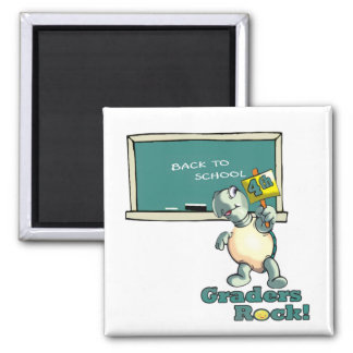 "Turtle ""4th Graders Rock"" Design Magnet"