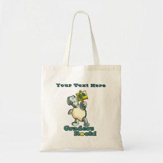 "Turtle ""4th Graders Rock"" Design Tote Bag"