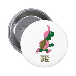 Turtle 5K - Pink 2 Inch Round Button