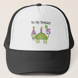Turtle 5th Birthday Tshirts and Gifts Trucker Hat