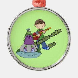 Turtle-ade Me Round Metal Christmas Ornament