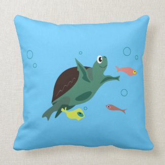 Turtle American MoJo Pillow