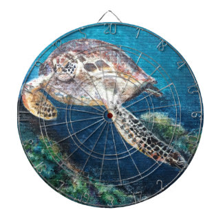 Turtle and a coral reef dartboard