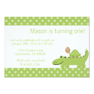 Turtle And Alligator Party Invitation