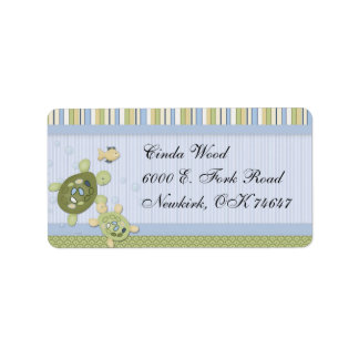 Turtle and Goldfish Address Labels