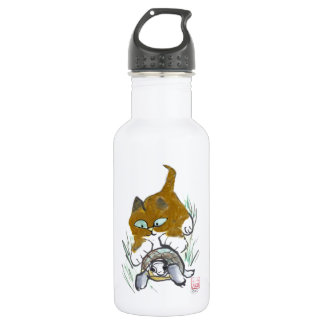 Turtle and Kitten Tails Stainless Steel Water Bottle