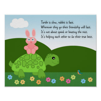 Turtle and Rabbit Poster