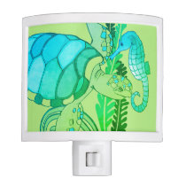 Turtle and Seahorse Night Light
