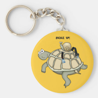 turtle and snail BUCKLE UP keychain