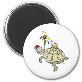 Turtle and Snail Christmas Magnet