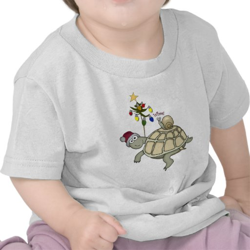 Turtle and Snail Christmas Tee Shirts