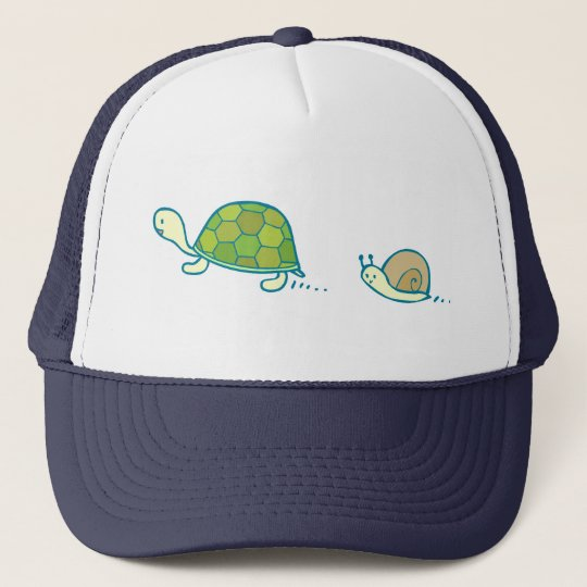 Turtle and Snail Doodle Art Hat