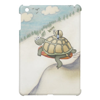 Turtle and snail snowboarding! iPad mini case