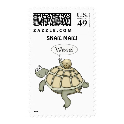 Turtle and snail Weee! Postage Stamp