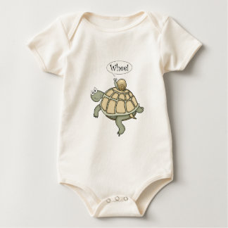 Turtle and snail.  Whee! Baby Bodysuit