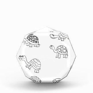 turtle animal shell personalize custom acrylic award