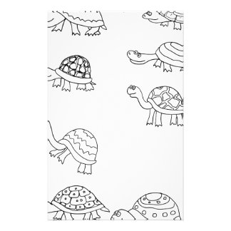 turtle animal shell personalize custom flyer