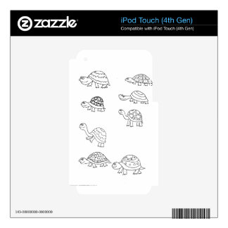 turtle animal shell personalize custom iPod touch 4G decals