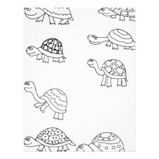 turtle animal shell personalize custom letterhead