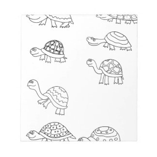 turtle animal shell personalize custom notepad