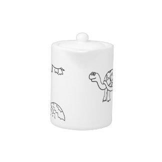 turtle animal shell personalize custom teapot