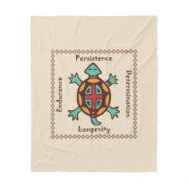Turtle animal spirit fleece blanket
