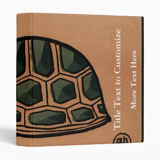 Turtle - Antiquarian, Colorful Book Illustration 3 Ring Binder