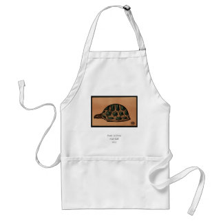 Turtle - Antiquarian, Colorful Book Illustration Adult Apron