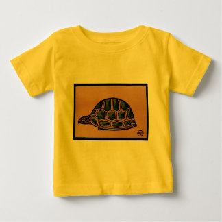 Turtle - Antiquarian, Colorful Book Illustration Baby T-Shirt