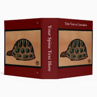 Turtle - Antiquarian, Colorful Book Illustration Binder