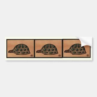 Turtle - Antiquarian, Colorful Book Illustration Car Bumper Sticker