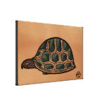 Turtle - Antiquarian, Colorful Book Illustration Gallery Wrapped Canvas