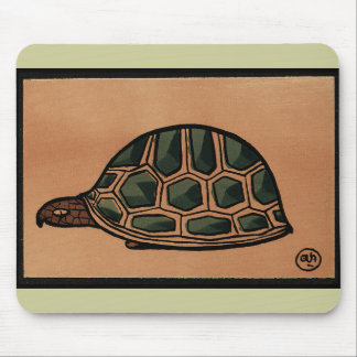 Turtle - Antiquarian, Colorful Book Illustration Mouse Pad