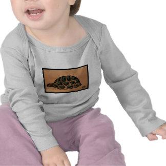 Turtle - Antiquarian Colorful Book Illustration Tshirt